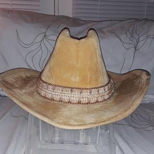 Longhorn vintage faux suede cowboy hat